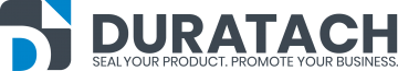 Duratach custom printed tape labels and stickers