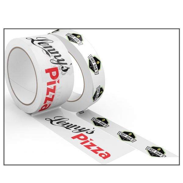 Two rolls of custom-printed premium PVC tape